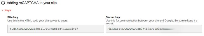 WordPress ReCaptcha API Keys