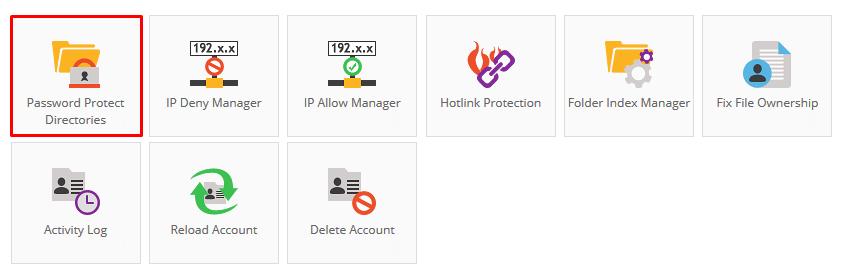 Hostinger Control Panel Password Protect Directories