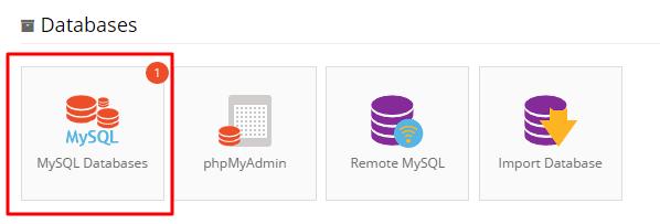 Hostinger Databases section