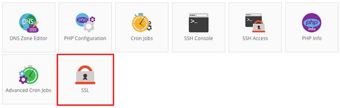Sección Hostinger SSL