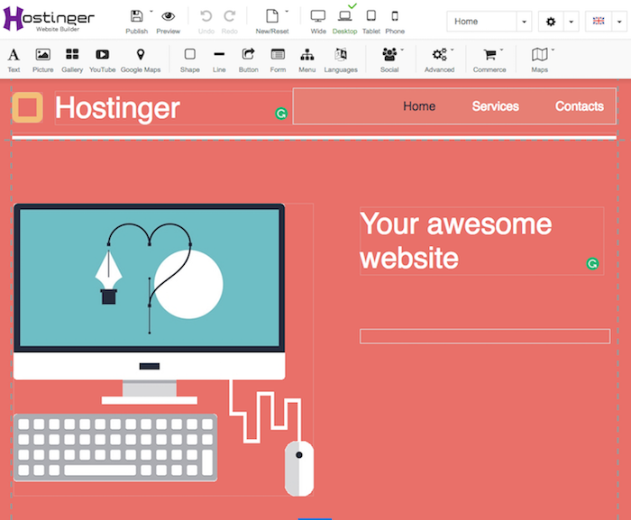 Hostinger Site Builder Create Awesome Website