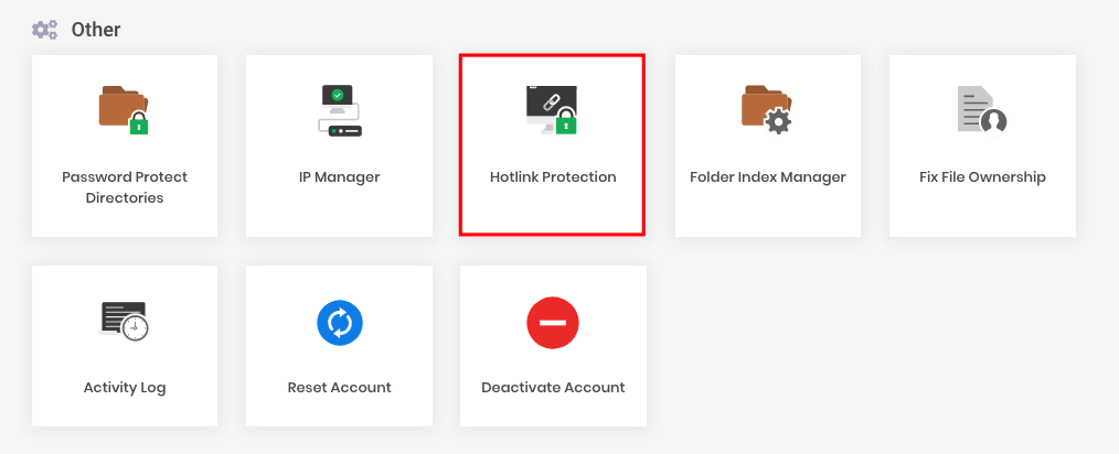 Hotlink Protection option under the Others category on hPanel