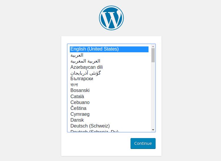 WordPress berhasil di-upload
