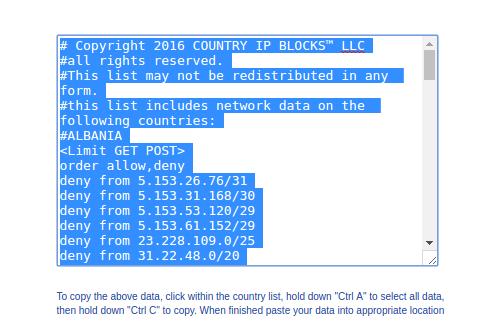 IP list