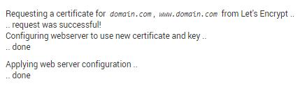 Success installing SSL