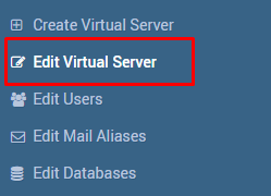 Edit Virtual Server location