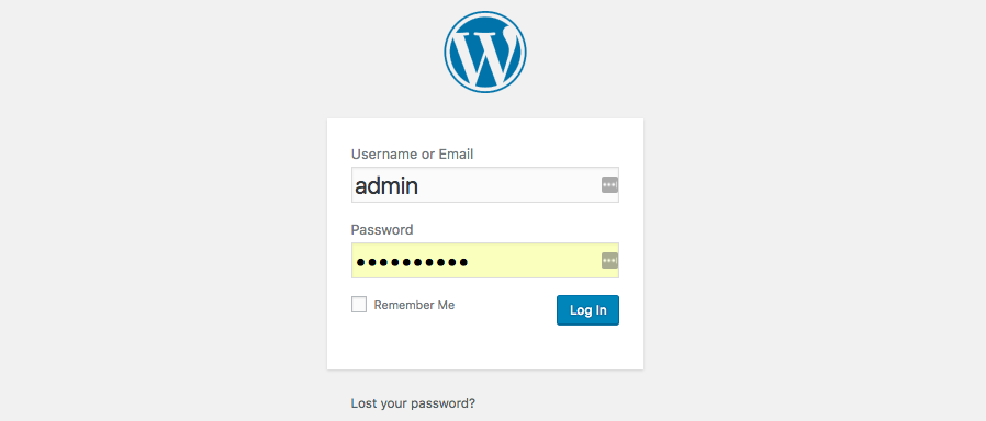 Halaman Login WordPress