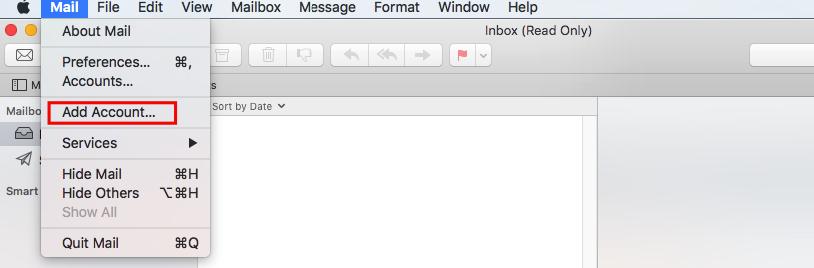 Mac Mail Add Account