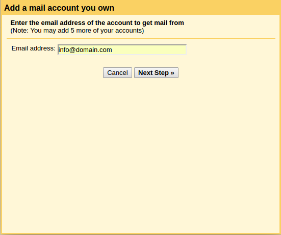 Add email address field