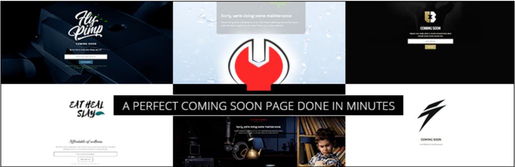 Screenshot of the minimal coming soon page plugin's banner