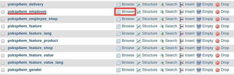 how to change database password in phpmyadmin