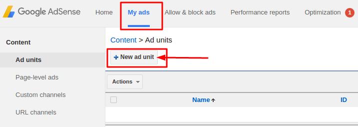 Start new ad