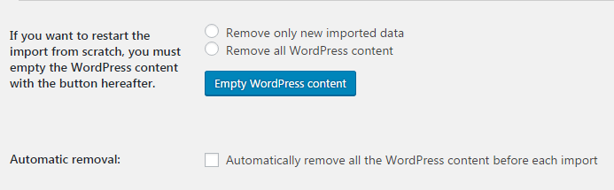 Removing old WordPress content