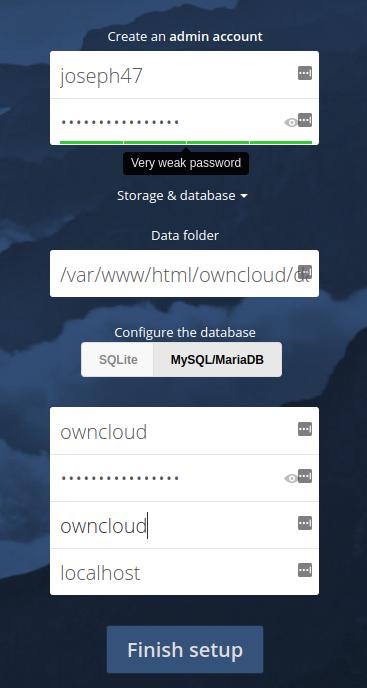 ownCloud CentOS7