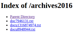 Successful login to directory