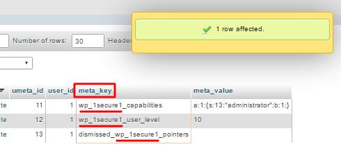thay đổi prefix bằng query