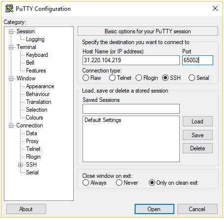 putty-ssh-client-configuration