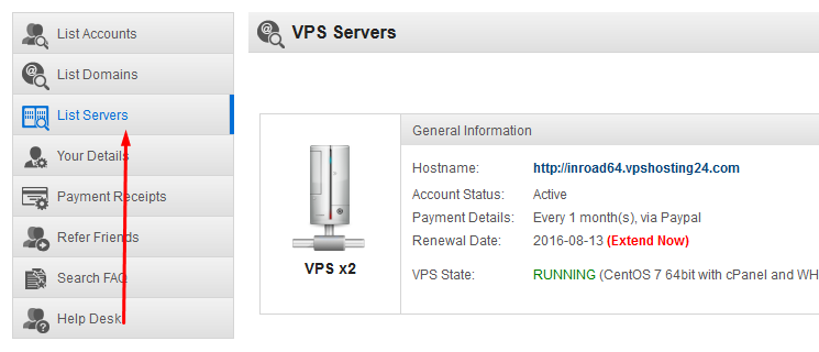 Obtaining Your VPS Access Details