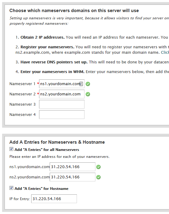 Setting Up IP Addresses and Name Servers