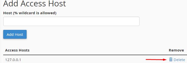 Remove Host