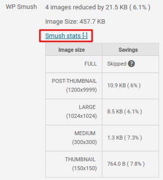 Smush stats
