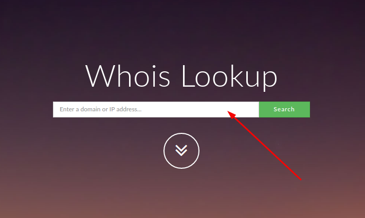 whois.domaintools.com search panel