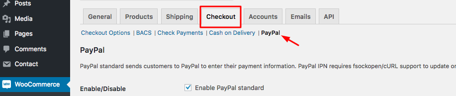 WooCommerce Checkout Tab