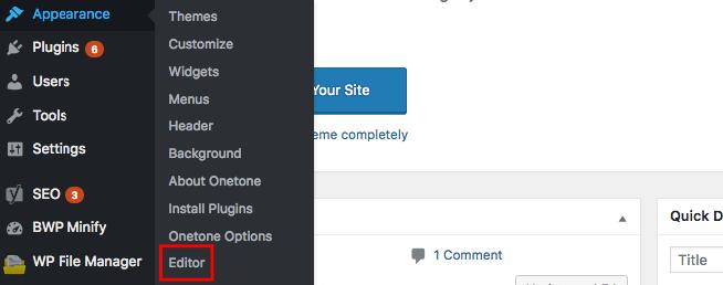 WordPres Appearance Editor