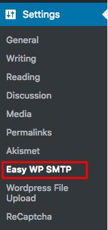 WordPress Easy WP SMTP Settings