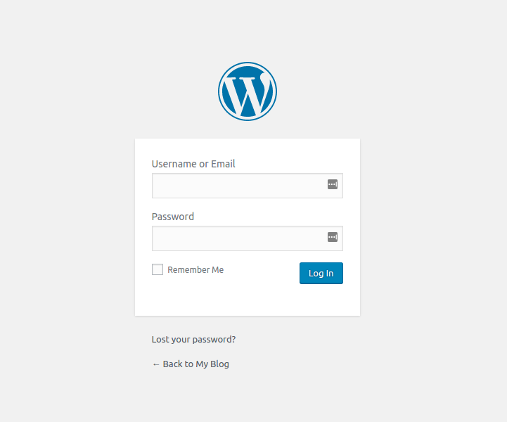 login WordPress admin