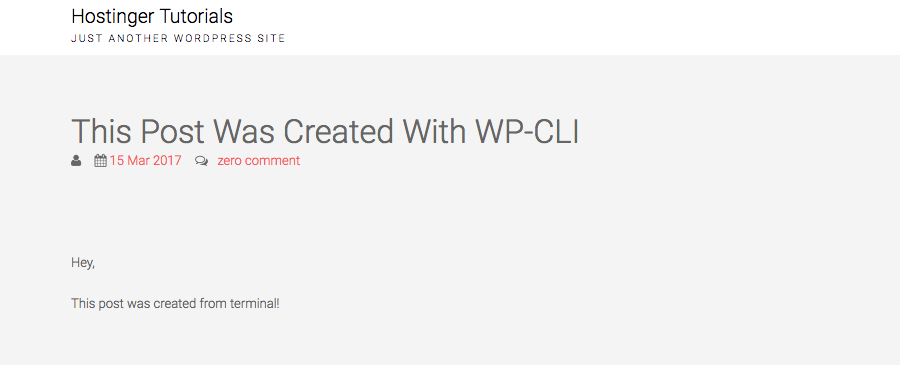 WP-CLI Create Post