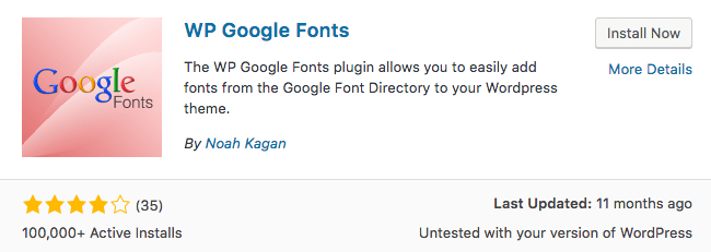 WP Google Fonts Plugin