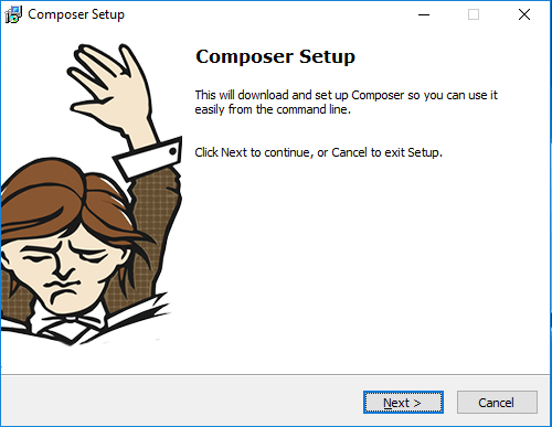 Composer Install Wizard Windows