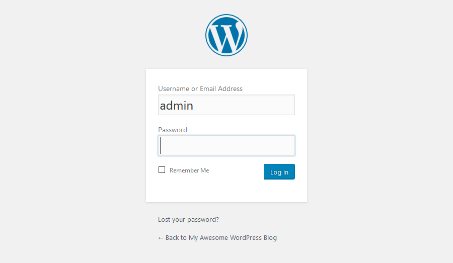 Login ke Dashboard WordPress