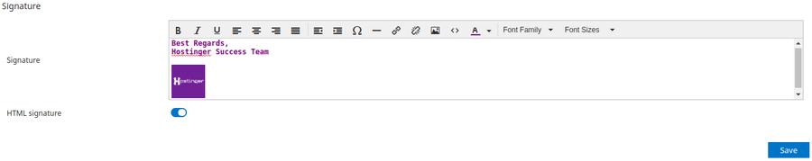 HTML signature box