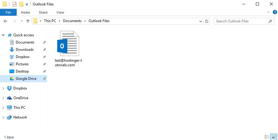 Outlook Yedek Dosyası