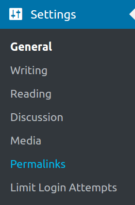 Permalinks section in WordPress settings