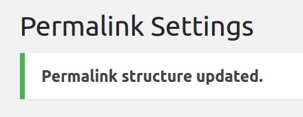 Wordpress permalinks updated