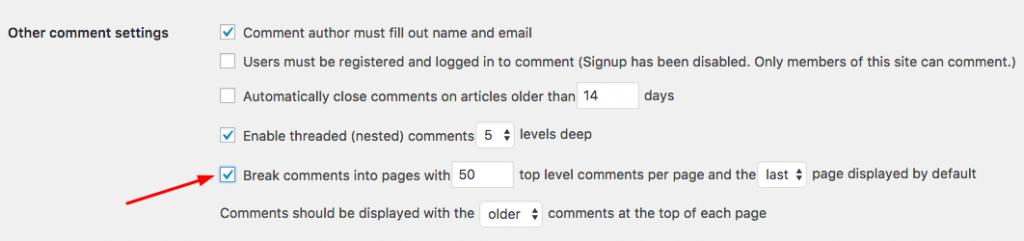Membagi-bagi komentar menjadi beberapa halaman