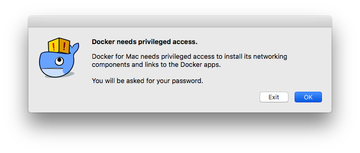 Enter Password for Docker