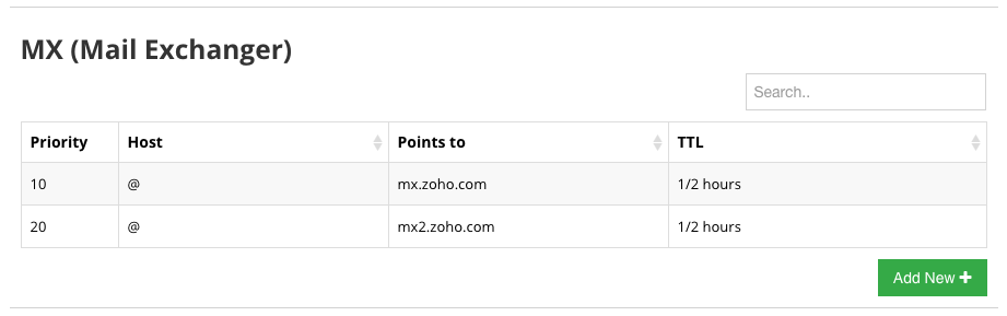 Add Zoho MX Records to Hostinger