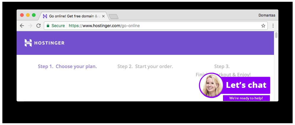 Ikon gembok kecil sebelum URL website