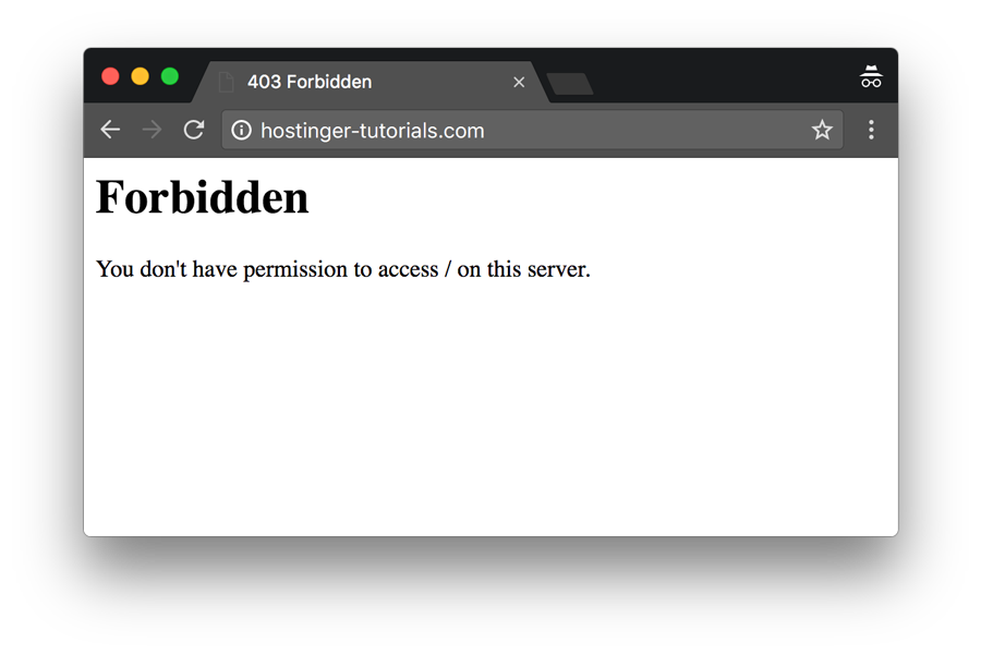 403 Forbidden Error Example