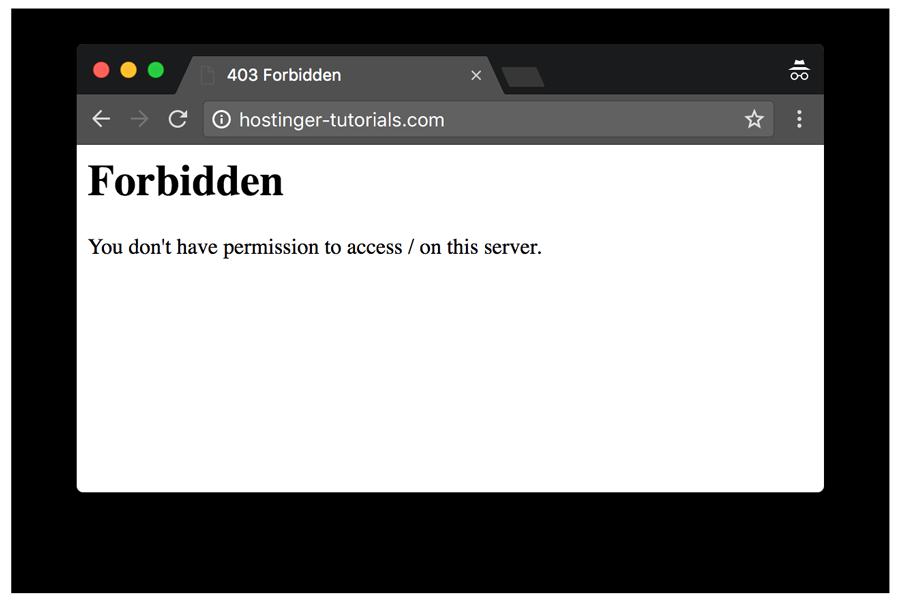 Ví dụ lỗi 403 Forbidden Error