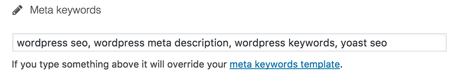 Add Keywords To WordPress