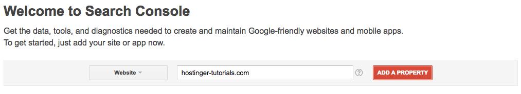 Tambahkan Situs ke Google Search Console