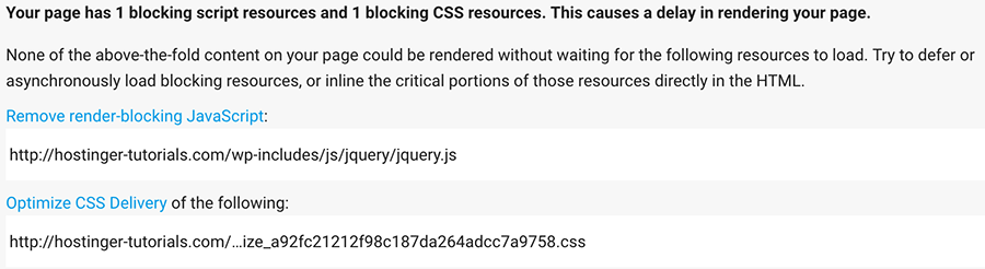 1 blocking script resources and 1 blocking CSS resources left after Autoptimize