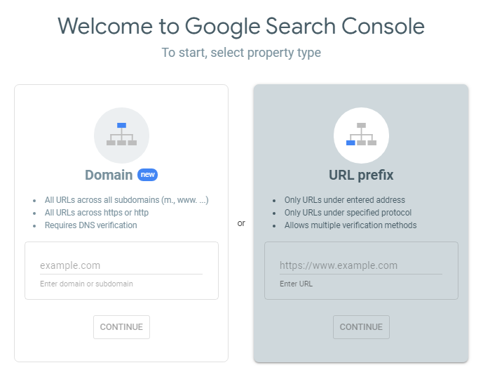 Using the Google Search Console