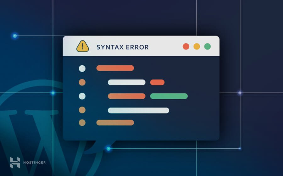How to fix WordPress Syntax Errors