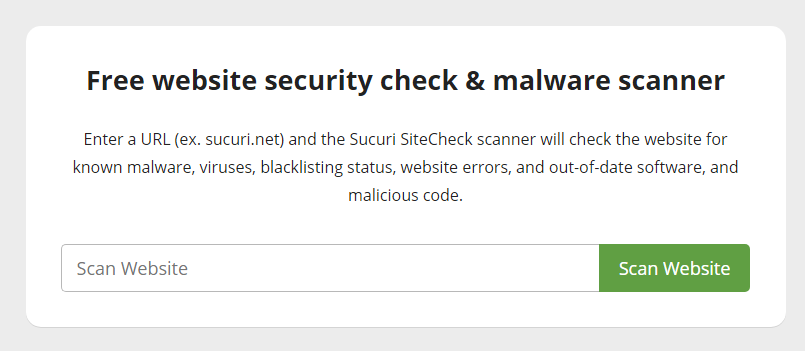 Using Sucuri SiteCheck malware scanner tool
